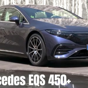 Mercedes EQS 450+ Electric S Class in Sodalith Blue