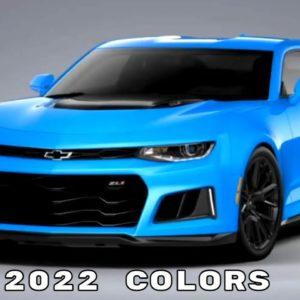 2022 Chevrolet Camaro ZL1 Colors