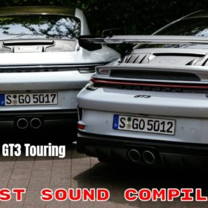 2022 Porsche 911 GT3 Touring package Exhaust Sound Compilation