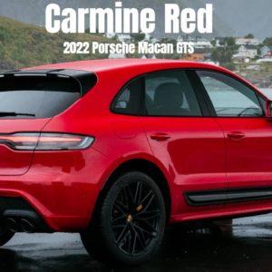2022 Porsche Macan GTS in Carmine Red