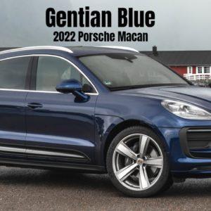 2022 Porsche Macan in Gentian Blue