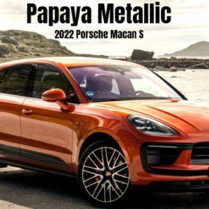 2022 Porsche Macan S in Papaya Metallic