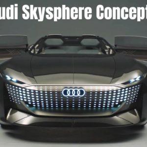 Audi skysphere Concept Retractable Steering Wheel and Interior
