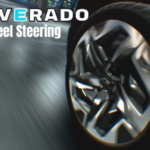 Chevrolet Silverado Electric Pickup Truck Four-Wheel Steering