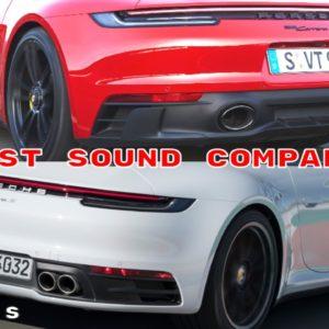 Porsche 911 992 GTS vs Carrera S Exhaust Sound Comparison