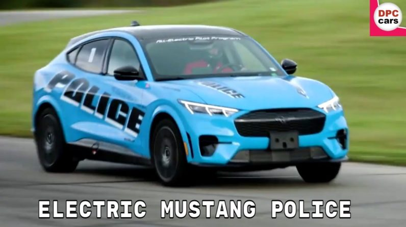 2021 All Electric Mustang Mach E SUV Police Pilot Vehicle