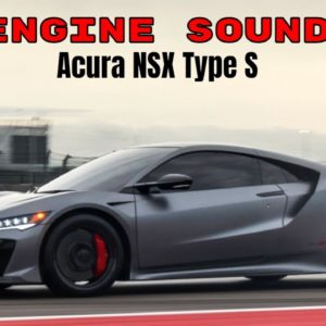2022 Acura NSX Type S Engine Sound in The Cabin