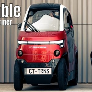 City Transformer is a Foldable Electric Car From Israel