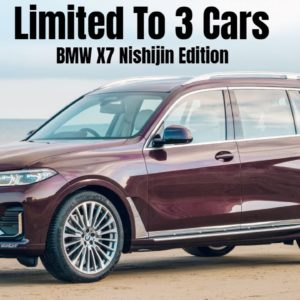 Limited To 3 Cars BMW X7 Nishijin Edition For Japan