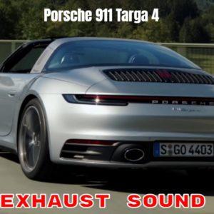 Porsche 911 992 Targa 4 in Dolomite Silver Metallic Exhaust Sound