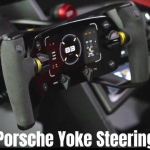 Porsche Yoke Steering Wheel in Mission R Interior