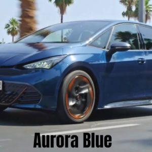 2022 CUPRA Born in Aurora Blue