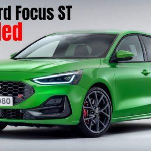 2022 Ford Focus ST Facelift Revealed