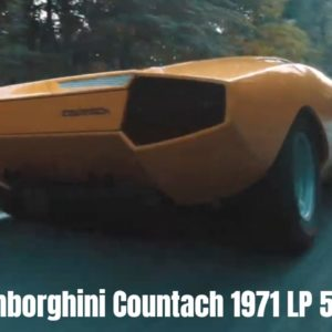 Lamborghini Countach 1971 LP 500 Unveiled at Villa d'Este